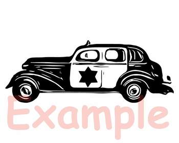 Old Police car SVG cars Father's Day police dad boy 906S