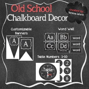 Old School Chalkboard Decor Bundle