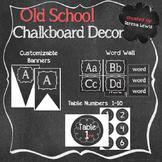 Old School Chalkboard Decor Set