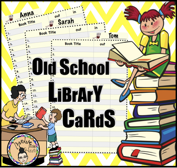 Old School Library Cards (incl. Librarian Medal)