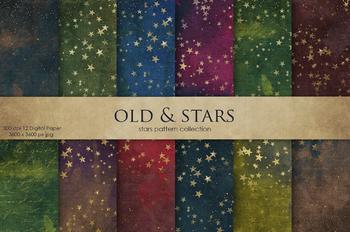 Old & Stars Digital Paper