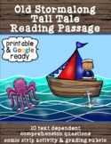 Old Stormalong Tall Tale Close Reading Passage and Comprehension Questions