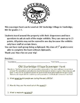 Old Sturbridge Village Scavenger Hunt