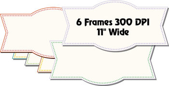 """Old Style Floral Scrapbook Papers & Frames– 12 x 12"""" Vector PDF - 300 DPI PNGs"""