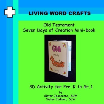 Old Testament 7 Days of Creation mini booklet for Pre-K to Gr. 1