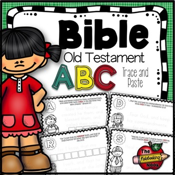 Old Testament Alphabet Trace and Paste Notebook