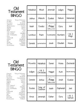 Old Testament Bingo