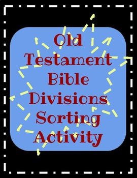 Old Testament Bible Division Sort