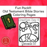 Old Testament Bible Stories Coloring Sheets Fun Pack