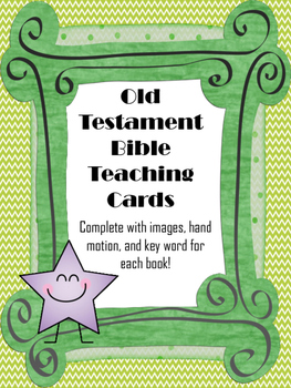 Old Testament Bible Teaching Cards