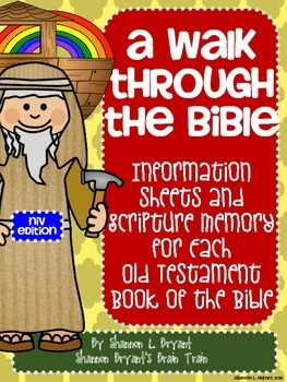 Old Testament Bible Verses, Background Info, and Student Response Sheets (NIV)