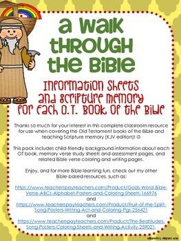 Old Testament Bible Verses and Background Info (KJV School License)