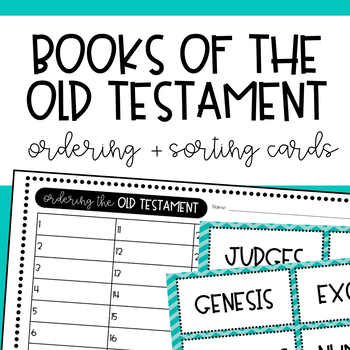 Old Testament Books Sorting Cards