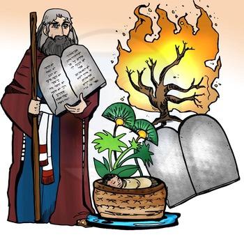 Old Testament Clip-Art: Moses  8 pc. Set