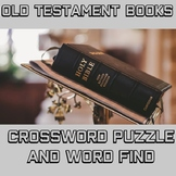 Old Testament Crossword and Word Find: Bible Activity for Middle or High School