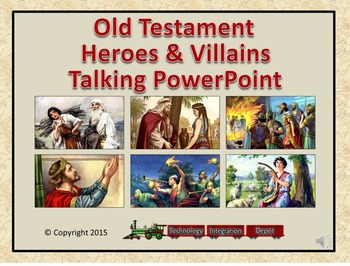 Old Testament Heroes & Villains Talking PowerPoint & Four Puzzle Pack (Bible)
