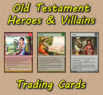Old Testament Heroes & Villains Trading Cards (Bible)