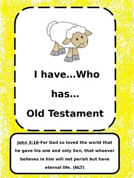 """Old Testament """"I Have...Who Has"""""""