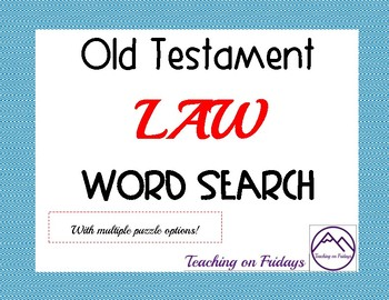 Old Testament LAW Word Search