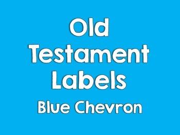 Old Testament Labels-Blue Chevron