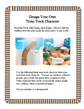 Old Tracks New Tricks-- Create a Train Track Character Art Activity