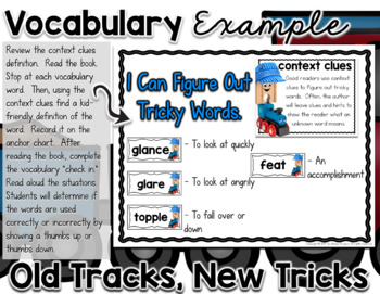 Old Tracks, New Tricks ELA Mini Unit FREEBIE