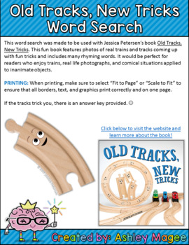 Old Tracks, New Tricks Word Search