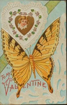 Old Valentine's Day Postcards Ratio and Precentage Worksheet