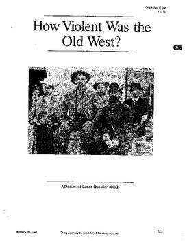 Old West: DBQ