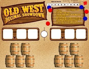 Old West Decimal Showdown