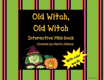 Old Witch, Old Witch - Interactive Mini-Book with Color Words