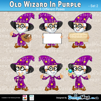 Old Wizard In Purple – Set 2