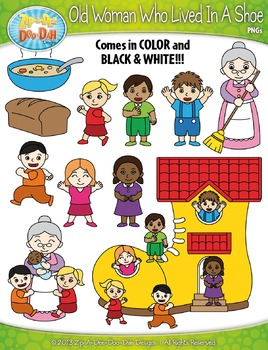 {FREE} Old Woman Who Lived In A Shoe Nursery Rhyme Clipart