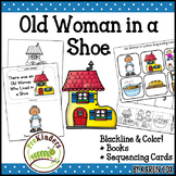 Old Woman Who Lived in a Shoe Rhyme: Books & Sequencing Cards