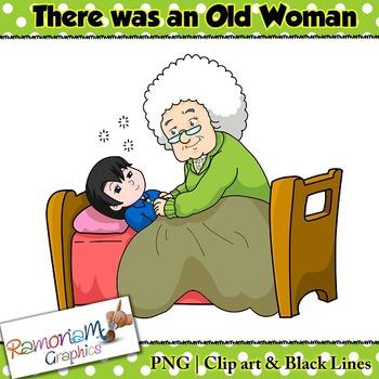 Old Woman in Shoe Clip art