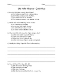 Complete Set of Old Yeller Quick Quizzes