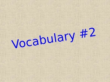 Old Yeller Chapter Two Vocabulary