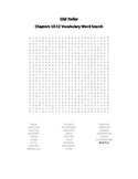 Old Yeller Chapters 10-12 Vocabulary Word Search- Gipson