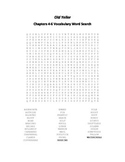 Old Yeller Chapters 4-6 Vocabulary Word Search- Gipson