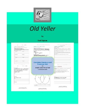 Old Yeller Complete Literature and Grammar Unit