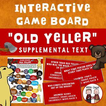 Old Yeller Game Board Journeys Supplemental Resource