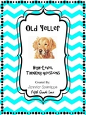 Old Yeller High-Level Thinking Questions