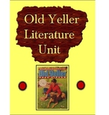 Old Yeller Literature Unit