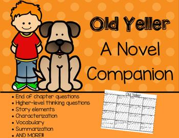 Old Yeller Novel Companion Chart