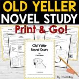 Old Yeller Novel Study Comprehension | Distance Learning Packet