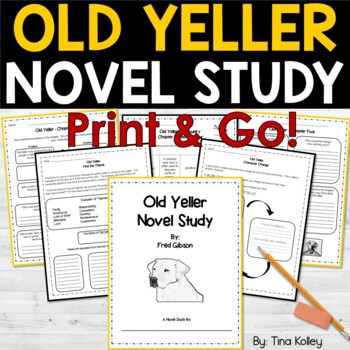 Old Yeller Novel Study Comprehension and Vocabulary Questions