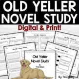 Old Yeller Novel Study | Digital and Printable | Distance