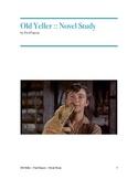Old Yeller Novel Study & Tests