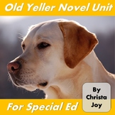 Old Yeller Novel Study for Special Education
