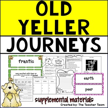 Old Yeller | Journeys 5th Grade Unit 2 Lesson 7 | Printables